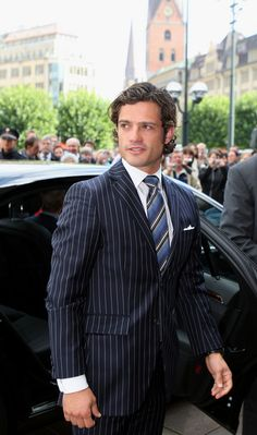 Two words: Swedish prince. Prince Carl Philip of the Kingdom of Sweden.
