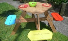 Mesa jardín para niños