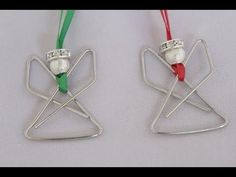 ▶ Angel Paperclip Ornament Tutorial - Christmas Angel craft - YouTube