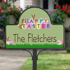 Personalized Happy Easter Decorative Yard Stake: Get Discounted Gifts at PersonalizationMall.