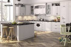 Shaker Style Kitchen Cabinets – A Classic Choice for Elegance and Practicality Shaker Style Kitchen Cabinets, Shaker Style Kitchens, Kitchen Cabinet Styles, White Cabinets, Kitchen Island, Closed Kitchen Design, Kitchen Styling, Elegant, Classic