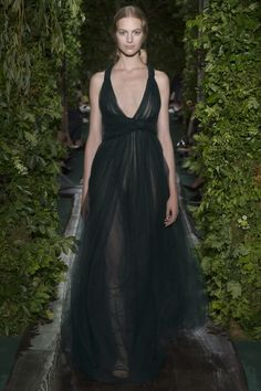"""Haute Couture Fall/Winter 2014 """"Ophelia"""", wave of chrysoprase green draped tulle."""