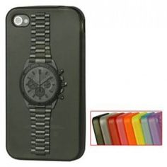 Watch Pattern TPU Gel Case for iPhone 4 and 4s