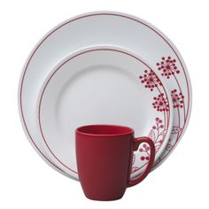 #Corelle® Vive™ Berries and Leaves 16-Pc Dinnerware Set. Perfect for your patriotic summertime celebration - BUY NOW!