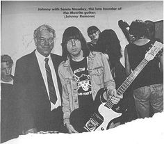 Johnny Ramone with founder of Mosrite guitars.