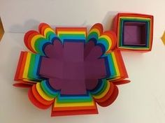Art and Craft: How to make Surprise Explosion Box/ Rainbow Explosion Box - YouTube