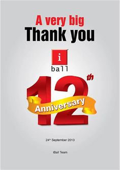 Finally the day arrives… We @ iBall celebrate our 12 Years of Innovation!  Thank you folks for your support which has etched this journey of growth in the history of Technology! We also express gratitude to all the iBall fans with a promise of reaching many more milestones in the Innovative World of Technology!