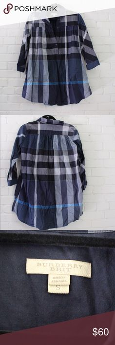 Burberry Top Burberry checkered baby doll top Tops Button Down Shirts