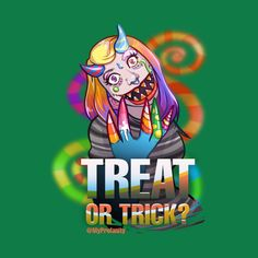 Shop Candy Monster - trick or treat t-shirts designed by myprofanity as well as other trick or treat merchandise at TeePublic. Trick Or Treat, Shirt Designs, Candy, Awesome, Check, Shop, Prints, Fictional Characters, Art