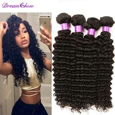brazilian deep curly virgin brazilian wavy hair bundles 4 pcs cheap ali moda…
