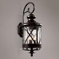 Rustica Antique Copper Brown Or Matte Black 1 Light Outdoor Sconce Small Elk Lighting Pinterest And