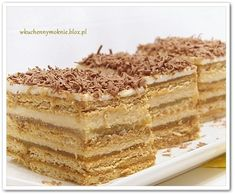 CIASTO Z MASĄ SEROWO-KRÓWKOWĄ I JABŁKAMI NA HERBATNIKACH ( ... Hungarian Desserts, Different Cakes, Polish Recipes, How Sweet Eats, Sweet And Salty, Dessert Bars, No Bake Desserts, Tray Bakes, Sweet Recipes