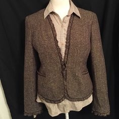 ✨Final Price Cut✨Beautiful Brown Blazer Shades of Browns Blazers by Villager, top is listed separately 💖 Jackets & Coats Blazers