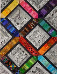 Very cool scrap quilt