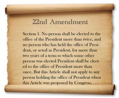 Did you know there has been a proposal by the Democrats in 2009 to repeal the 22nd Amendment? Now you do.