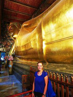 Liegender Buddha im inneren des Tempels (46 m)