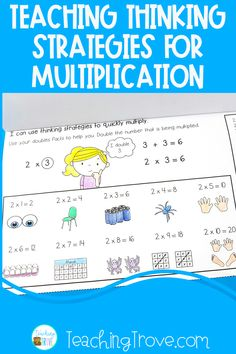 These 12 multiplication strategy flip books are perfect for helping your 3rd, 4th grade and home school students understand the multiplication concept and begin to memorize the facts. Each book covers the multiplication strategies of equal groups, arrays, repeated addition, skip counting, and provides a mental math strategy. They can be use in math centers, partner work, morning work, extra activities for early finishers, or homework. #multiplication #multiplicationactivities