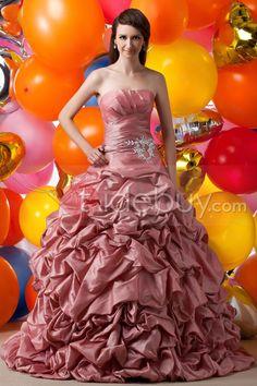 #Elegant #Ball #Floor-length Elegant Strapless Floor-length Pick-ups Maria Anastasia's Quinceanare Dress
