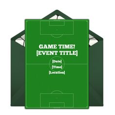 We love this Soccer Field invitation. Create, customize, and send beautiful free online invitations with Punchbowl today. Mickey Mouse Parties, Mickey Mouse Birthday, Soccer Party, Sports Party, Toy Story Birthday, Toy Story Party, Online Invitations, Party Invitations, Invite