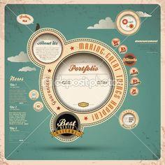Modelo retro web design — Ilustração de Stock #15537033