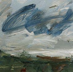 Louise Balaam 'Cloud scribble, white light', oil on board, 20 x 20cm £495
