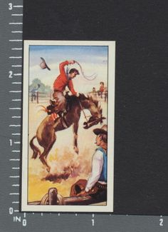 Rodeo - Wagon Wheels Wild West Action cigarette type card #9