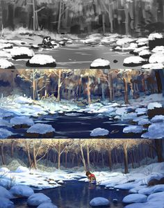 ArtStation - wp 004, Thuan Huynh Concept Art Tutorial, Digital Art Tutorial, Digital Painting Tutorials, Art Tutorials, Environment Painting, Environment Concept Art, Animation Background, Art Background, Paint Photoshop