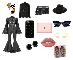 """""""Untitled #111"""" by isaisabel on Polyvore featuring E L L E R Y, Rasario, Ulla Johnson, Balmain, Prada, Kate Spade, Lack of Color, West Coast Jewelry, Lord & Taylor and Lime Crime"""