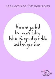 Such a beautiful quote about the value of a mom.