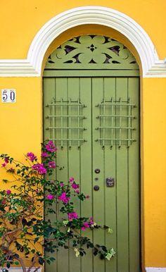 Green door via divinespirit3.tumblr.com