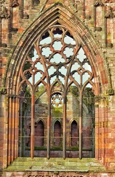 Melrose Abbey a window into the past, Scotland #gothicarchitecture