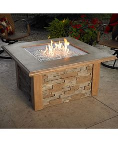 Sierra Fire Pit Table. Get it at www.outdoorrooms.com