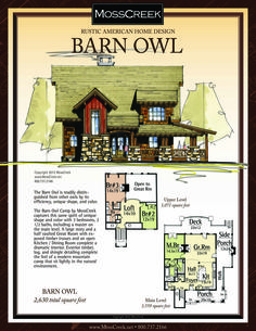 Luxury Log Homes Sims House Plans, Dream House Plans, Small House Plans, House Floor Plans, Log Home Plans, Cabin Plans, Mountain House Plans, Mountain Cabins, American Home Design