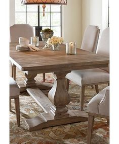 Rachael Ray Home Sunbleached Trestle Dining Table - Monteverdi Trestle Dining Tables, Dining Table Decor, Dining, Dining Table In Kitchen, Dining Room Decor, Dining Room Table, Rustic Dining Table, Dining Room Furniture, Dining Table Design