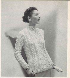 Diamond Cable • 1950s Knitting Cardigan Sweater Coat Crochet Jacket Top Patterns • 50s Vintage Pattern • Retro Women's Knit Digital PDF by TheStarShop on Etsy