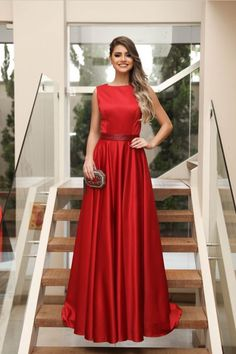 Red A Line Sweep Train Jewel Neck Sleeveless Simple Prom Dress,Party Dress P340         #LongPromDresses, #CheapPromDress, #PartyDresses, #PromGowns, #GownsProm, #EveningDresses, #CheapPromDresses, #DressesforGirls, #PromDressUK, #PromSuit, #PromDressBrand, #PromDressStore, # Party Dress #GraduationDress #promdresses
