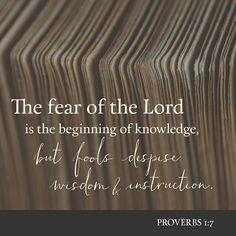 Proverbs1:7