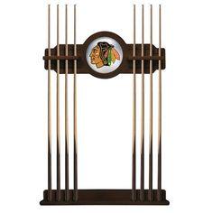 Chicago Blackhawks Eight Stick Pool Cue Rack - Navajo - $199.99