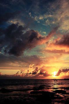 The setting sun each day