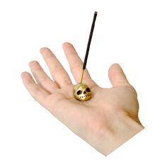 Danielle Wright - brass skull incense holder