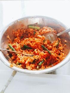 실습하고나서 마무리는 역시 비빔밥