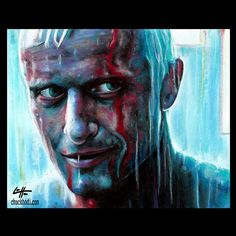 "Items similar to Print 8x10"" - Roy Batty - Blade Runner Rutger Hauer Harrison Ford Science Fiction Pop Art Philip K Dick Sci Fi Android Los Angeles Robot on Etsy"