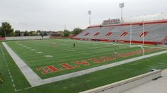 Hancock Stadium @ Illinois State University.  Also worked at some football games, basketball and volleyball games at the university.
