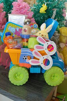 Don't Stress! 4 Easy Easter Basket Ideas = Baby Easter Basket by Jennifer Perkins