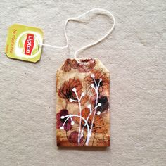 363 days of tea. Day 268. #recycled #teabag #art