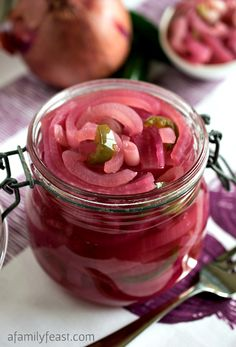 Today we're sharing a quick and easy recipe for Pickled Red Onions – and I have to say – I think this is one of the prettiest recipes we've ...