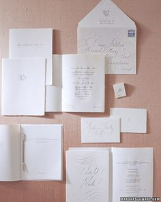 Start planning your wedding today with ideas for dresses, invitations, cakes, bouquets, and more from the editors of Martha Stewart Weddings. Wedding Invitation Inspiration, Classic Wedding Invitations, Wedding Stationery, Wedding Inspiration, Wedding Ideas, Stationery Design, Wedding Stuff, Wedding Programs, Wedding Events