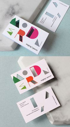 Stylish And Modern Die Cut Business Card Design