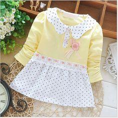 Baby Girl Polka Dots, Bow & Lace Dress