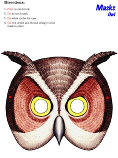 print out these woodland animal masks for the kids